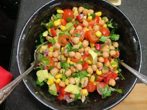 Mexican chick pea salad