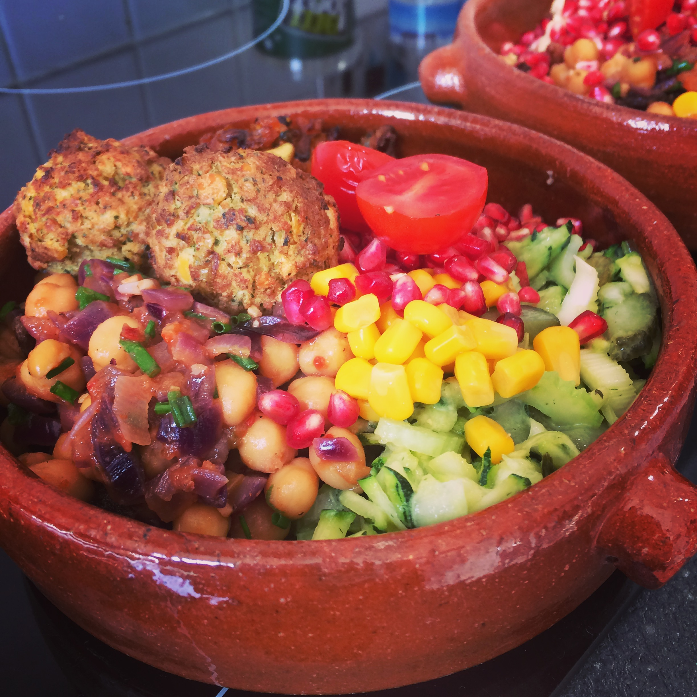 Moroccan Falafel Salad