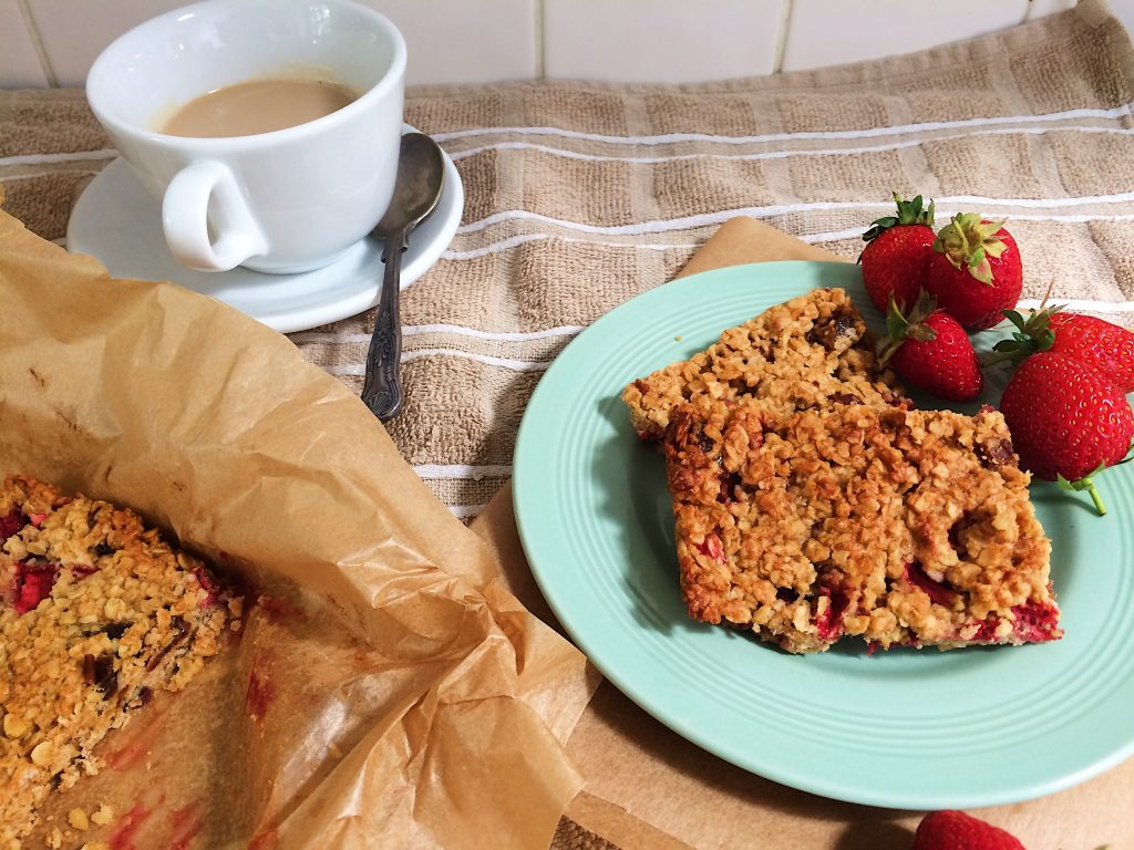 Strawberry & Peanut Butter Flapjacks