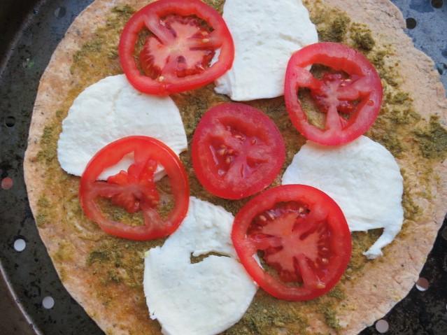 Tomato & Mozzarrella Skinny Tortilla Pizza